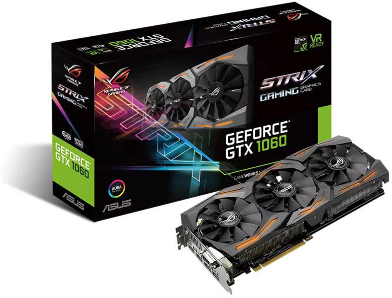 PCIE 1060GTX 6Gb Asus STRIX-GTX1060-6G-GAMING 192bit