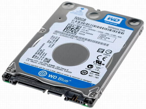 "500Gb Western Digital 2,5"" 5400/8Mb SATA3  WD5000LPCX"